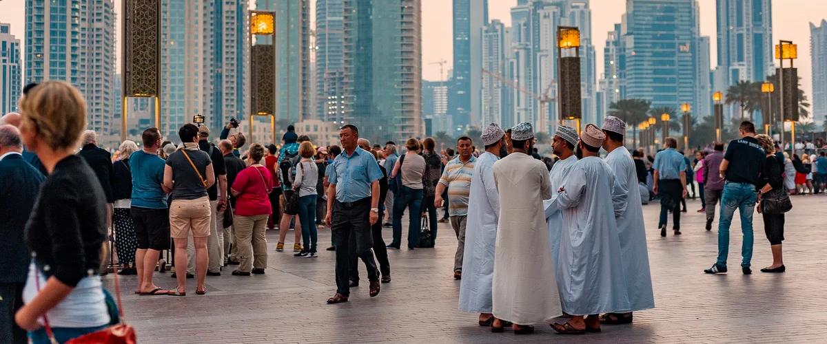 Туристы в ОАЭ